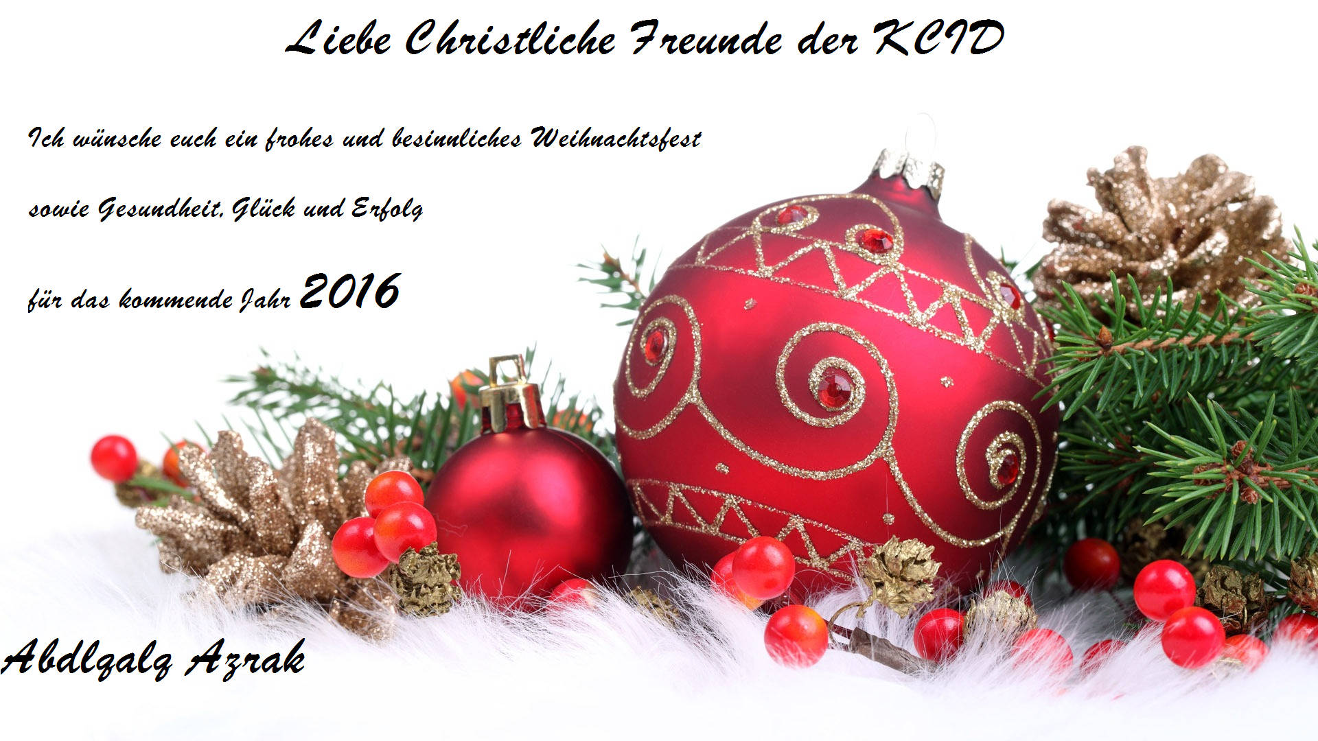 Grüße zu Mawlid an-Nabi, Weihnachten und Neujahr | CIG-Karlsruhe
